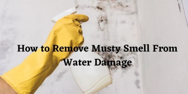 remove musty smell caused by water damage