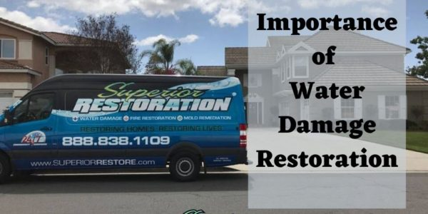 importance of water damage restoration