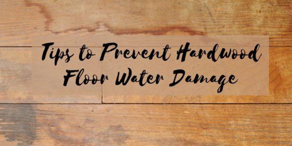 Tips to Prevent Hardwood Floor Water Damage